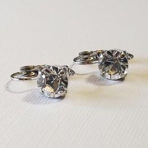 Sabika Small Drop Earrings Crystal Swarovski